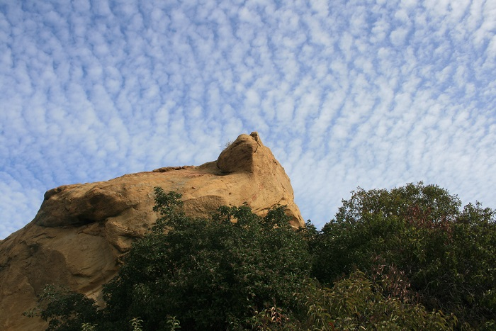Geology and sky on the East Topanga Fire Road