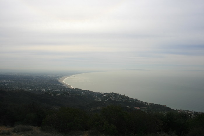 Santa Monica Bay from the overlook