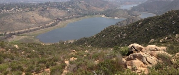 Lake Hodges from the overlook, Elfin Forest Recreational Reserve
