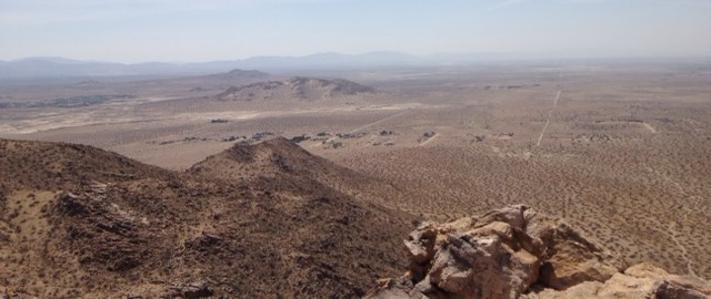 Looking southwest from Saddleback Butte
