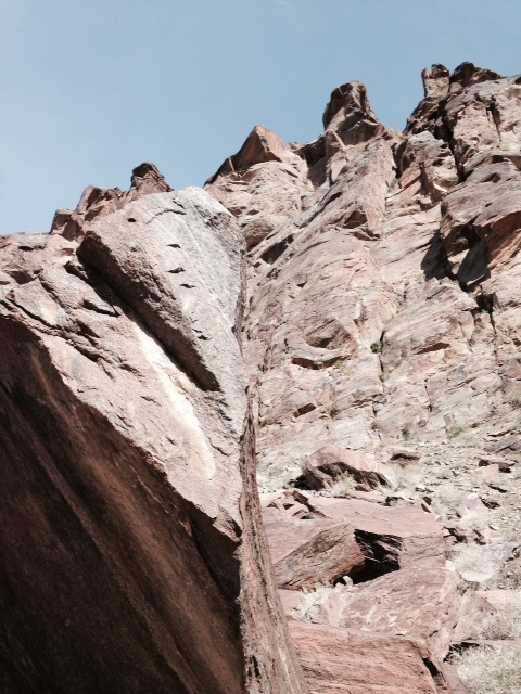 Geology in Tahquitz Canyon