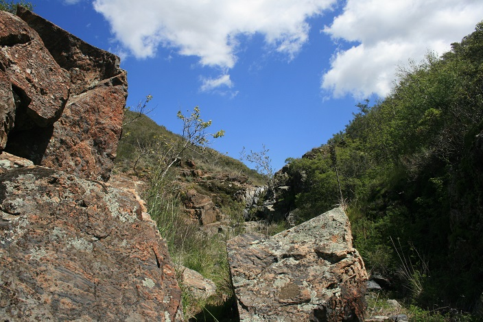 Over the rocks in Upper Hot Spring Canyon
