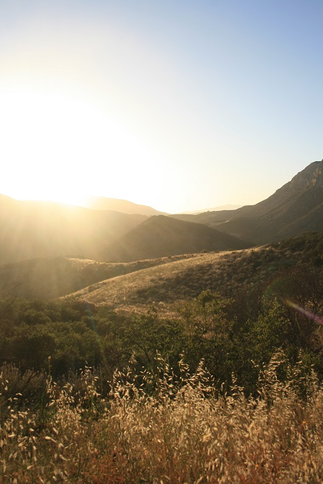 Sunset in the Los Padres National Forest from the Aliso Canyon Loop Trail