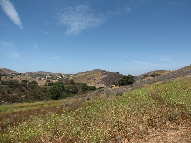 Meadow and hills in the trails behind Challenger Park