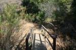 0:40 - Crossing the footbridge on the Five Oaks Trail