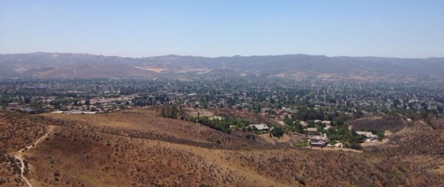 Looking southeast from the Big Sky Trail toward the Simi Hills