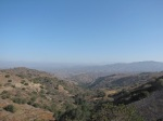 1:33 - Looking north toward the San Gabriels from the start of the Sandtrap Trail