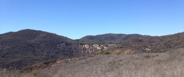 View from the Nicholas Ridge Motorway, Santa Monica Mountains, western Malibu