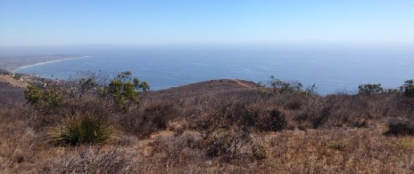 Ocean view, Nicholas Ridge Motorway, Santa Monica Mountains
