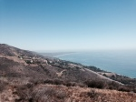 Ocean view from the end of the Nicholas Ridge Motorway, Santa Monica Mountains, Malibu, CA