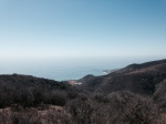 Ocean view from the Nicholas Ridge Motorway, Santa Monica Mountains, Malibu, CA