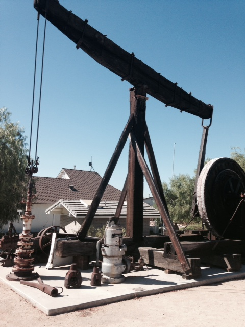 Historic oil well, Olinda Oil Museum