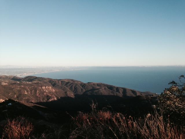 View of the Santa Monica Bay from Saddle Peak, Malibu CA