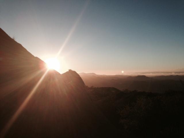 Sunset from Saddle Peak, Santa Monica Mountains, Malibu, CA