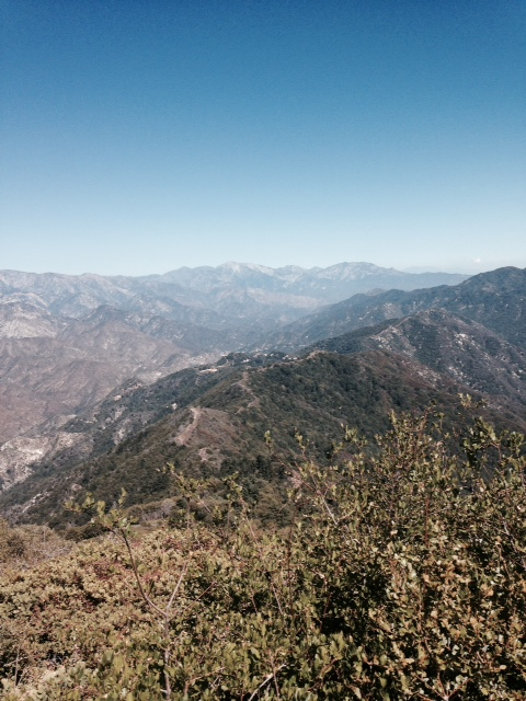View from near the top of the Rim Trail, Mt. Wilson