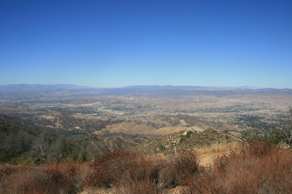 View from Bear Divide, western Angeles National Forest