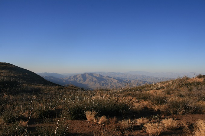 View of the Anza-Borrego Desert from the Pacific Crest Trail, eastern San Diego County