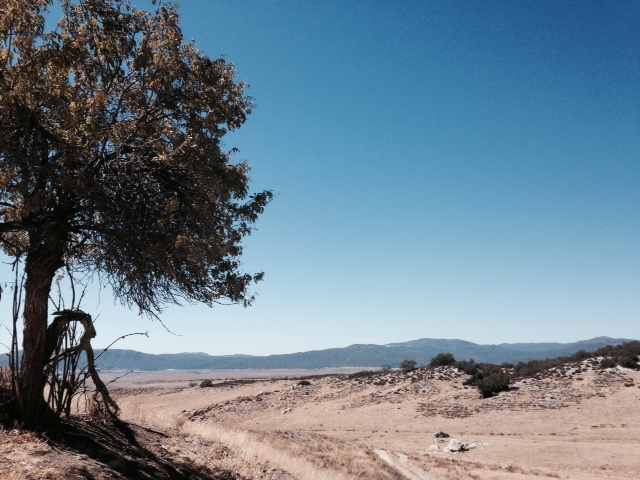 Panorama from the Pacific Crest Trail, northeast San Diego County