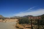 Cactus Springs Trail Head en route to Horsethief Creek, Santa Rosa Mountains