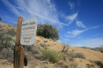 Sign at the entrance to the Santa Rosa Wilderness, Cactus Springs Trail
