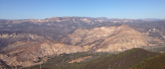 View of the Los Padres National Forest, Santa Barbara, CA from Knapp's Castle