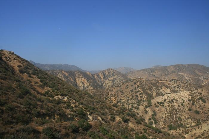 View of the Santa Susana Mountains from Michael Antonovich Regional Park, San Fernando Valley, CA