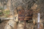 Sign on the Pratt Trail, Los Padres National Forest