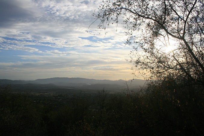 Sunset from the Foothill Trail, Los Padres National Forest, Ojai, CA