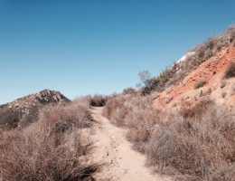 Following the trail up Rock Mountain, San Diego County