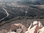 Aerial view of the Fallbrook, CA area from Rock Mountain