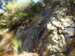 Geology on the trail to Pacoima Canyon and Dagger Flat, Angeles National Forest
