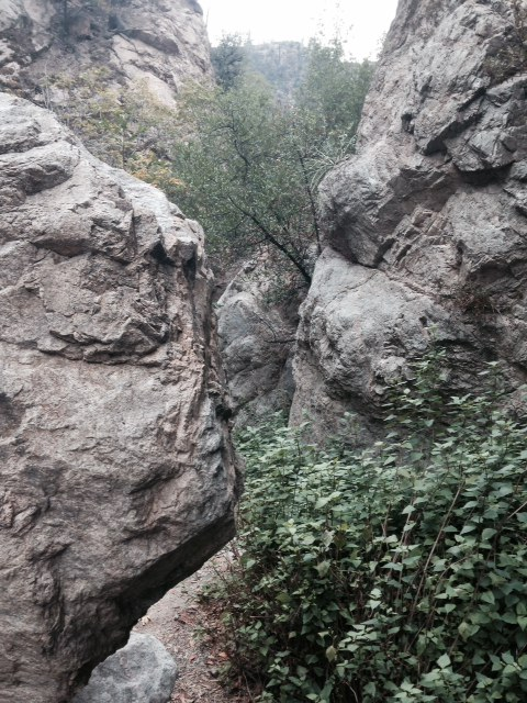 Rocks in Millard Canyon on the way to Dawn Mine, Angeles National Forest