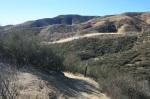 Descending from a ridge on the Grape Avenue Trail, Crafton Hills, Yucaipa, CA