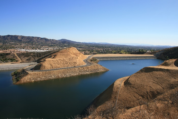 East Reservoir as seen from the Grape Avenue Trail, Crafton Hills, Yucaipa, CA