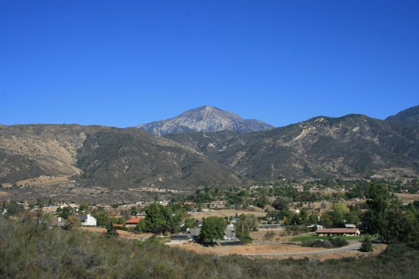 San Bernardino Peak as seen from the Grape Avenue Trail, Crafton Hills, Yucaipa CA