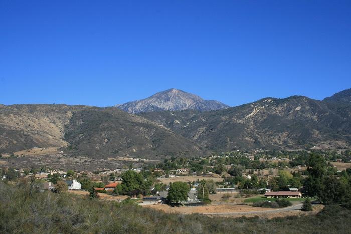 San Bernardino Peak as seen from the Grape Avenue Trail, Crafton Hills, Yucaipa CA