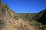 Climbing through hills on the Horn Canyon Trail, Los Padres National Forest, Ojai, CA