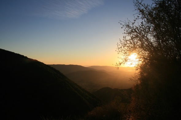 Sunset on the Horn Canyon Trail, Los Padres National Forest, Ojai, CA