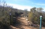 Trail junction, Oak Oasis Open Space Preserve, Lakeside, CA