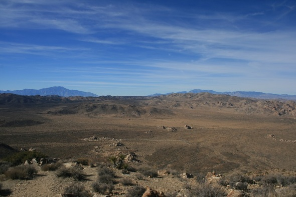 View of San Gorgonio Mountain and San Jacinto Peak from Ryan Mountain, Joshua Tree National Park