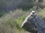 Rock cairn, Pacoima Canyon, Angeles National Forest, CA