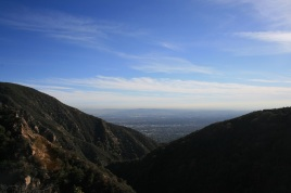 View from the Castle Canyon Trail, Angeles National Forest, Los Angeles County, CA