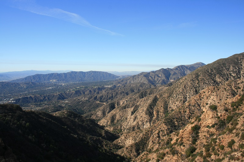 View of Millard Canyon from the Cape of Good Hope, Mt. Lowe Railway Loop