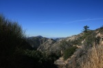 View from a saddle between Echo Mountain, Mt. Lowe and Mt. Wilson, Angeles National Forest, CA
