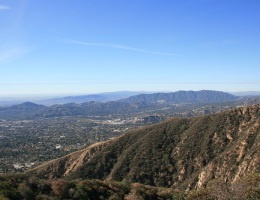 View from the Sam Merrill Trail near Echo Mountain, Altadena, CA