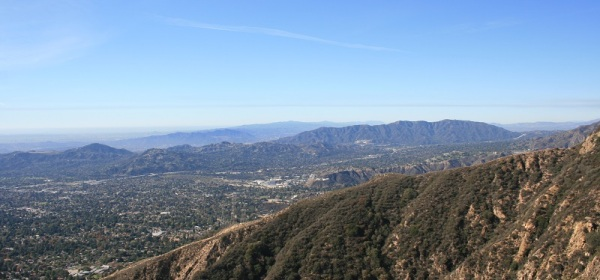View from the Sam Merrill Trail near Echo Mountain, Altadena, CA