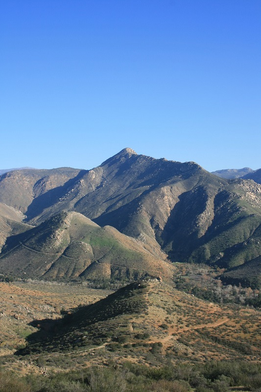 Eagle Peak seen from the San Diego River Gorge Trail, Cleveland National Forest, San Diego County, CA