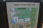 Information board at the Cedar Creek Falls Trail Head, Cleveland National Forest, San Diego County, CA