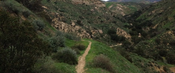 Panoramic view of Las Llajas Canyon, Simi Valley, CA