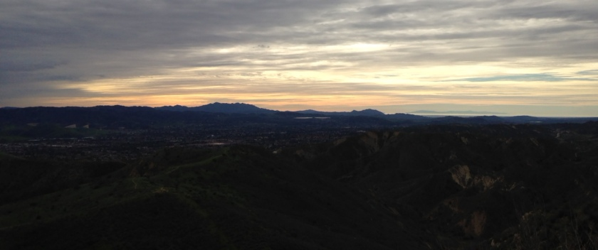 Sunset over Simi Valley from Coquina Mine, Ventura County, CA